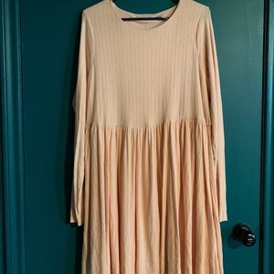 Peach Babydoll Skater UO Dress